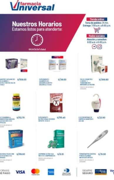 catalogo Farmacia universal Agosto 2020 Lima